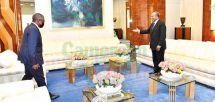 Aliko Dangote accueilli au Palais de l'Unité par le président Paul Biya ;