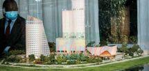 La maquette du futur « Hôtel du Lac ».