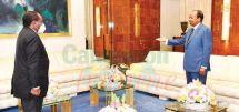 L'émissaire équato-guinéen accueilli au Palais de l'Unité par le président Paul Biya