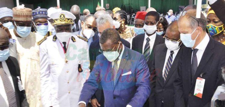Au nom du chef de l'Etat, le Premier ministre, chef du gouvernement, Joseph Dion Ngute, a posé hier la première pierre de la nouvelle ligne de production de clinker et de ciment de la Cimencam.