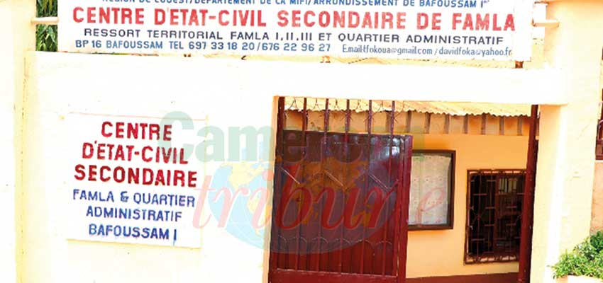 Etat civil: 56 000 personnes sans acte de naissance
