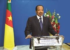 "President Paul Biya, ""Together, let us make Cameroon a land of great opportunities for economic and social development in peace and unity."""