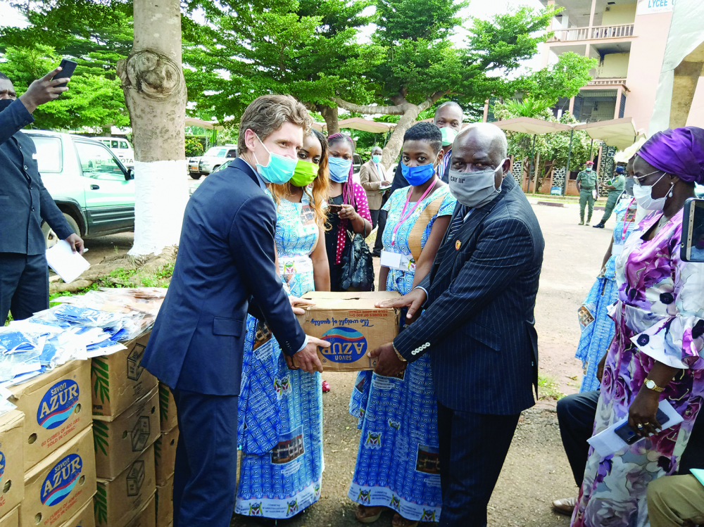 Yaounde III Council : Belgium Donates Covid-19 Preventive Kits