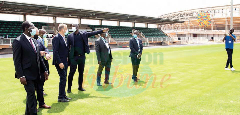 2021 AFCON : CAF Inspects Olembe Complex