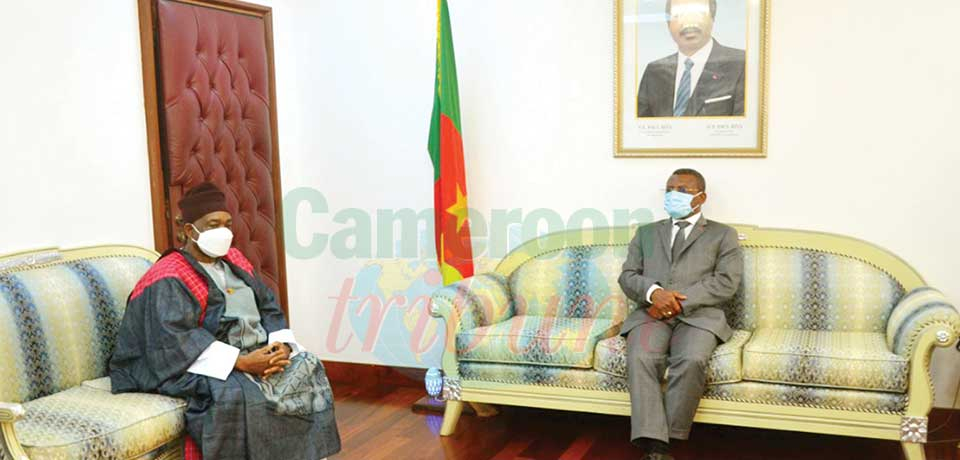 Star Building : PM Receives Lamido of Ngaoundere