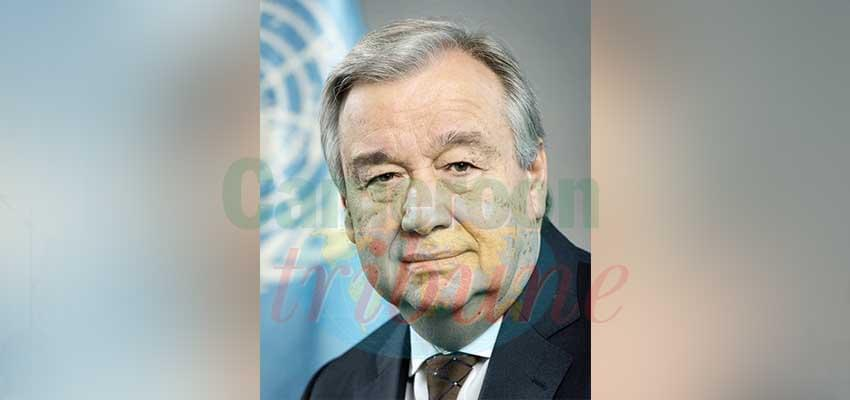 Le secrétaire général des Nations unies soutient le Cameroun dans ses initiatives de paix.