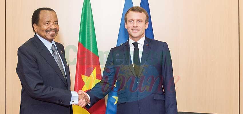 -Les présidents Paul Biya et Emmanuel Macron à Lyon : un grand moment de la diplomatie camerounaise.