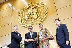 Prof Torimiro acknowledges award from the Sasakawa Foundation