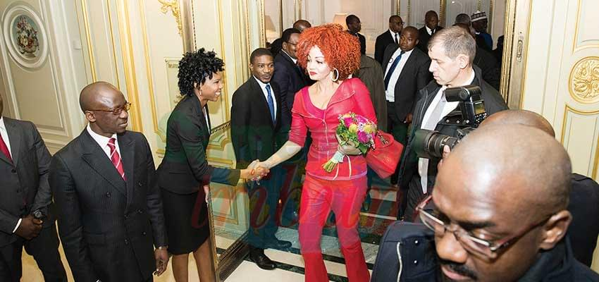 Chantal Biya At The Paris Peace Forum