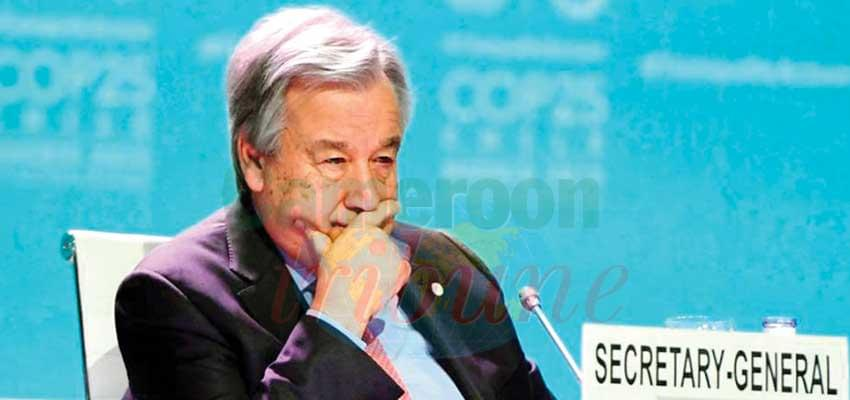 Antonio Guterres s'est dit déçu par l'issue des assises de Madrid.