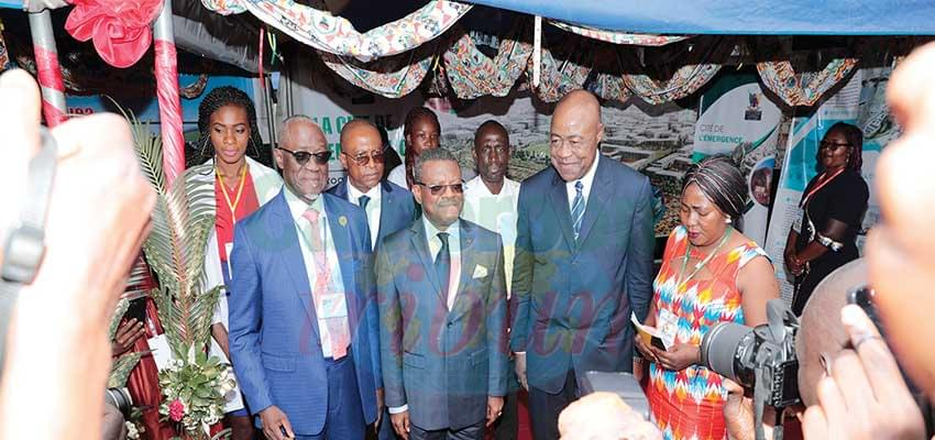 Prime Minister Dion Ngute discovering the potentials in exhibition stands.
