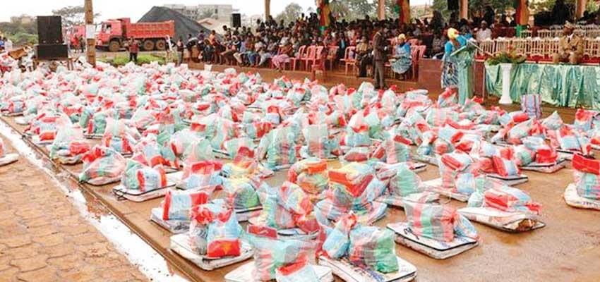 The distributions of assistance that booster the morale of the affected people