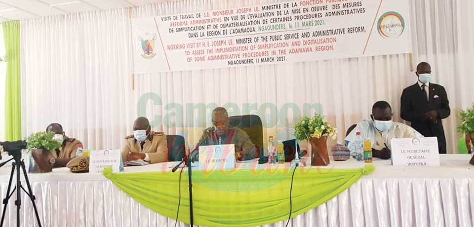 Dématérialisation des procédures au Minfopra : le cas de Ngaoundéré