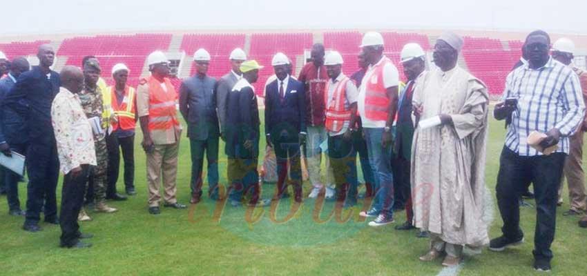 CHAN 2020 et CAN 2021:  Le Minsep visite les chantiers à Garoua