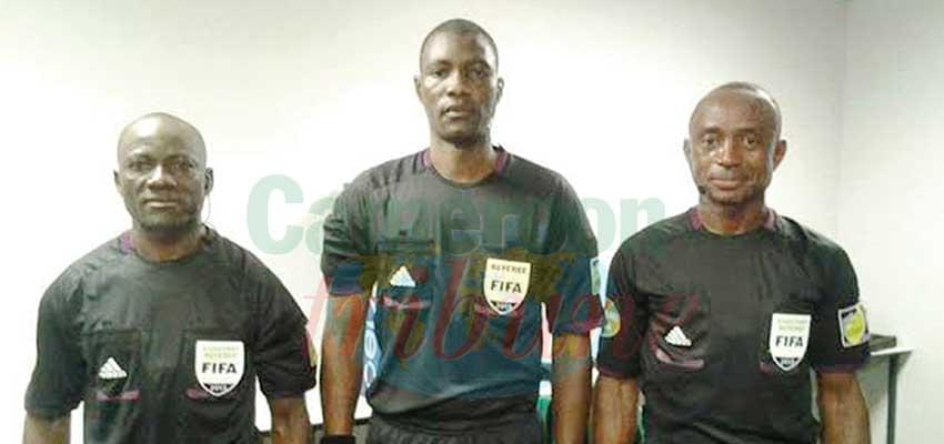 Cameroon ambassadors: Evarist Mekouande (left) Sidi Alioum (middle) and Elvis Noupue (right).