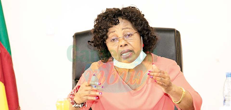 Professor Nalova Lyonga, Minister of Secondary Education.