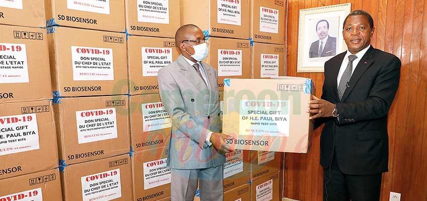 Dépistage du Covid-19 : Paul Biya offre 5 000 tests rapides
