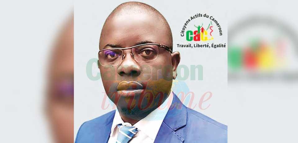Patrick Serge Etémé, président du parti Citoyens actifs du Cameroun.