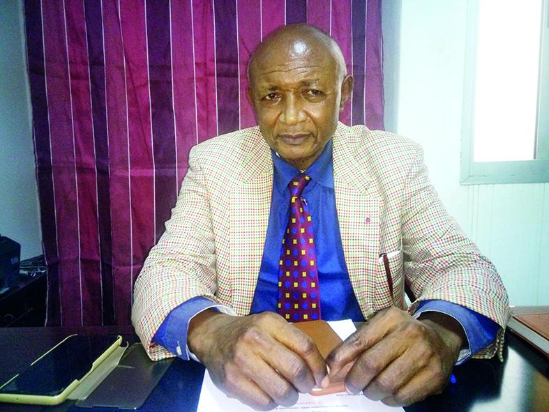 Michel Kaham, secrétaire général de la Ligue de football des jeunes du Cameroun.