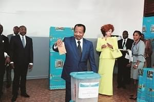 President Biya Exercises Civic Right