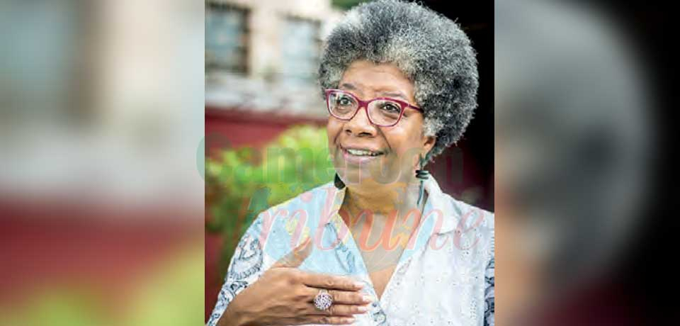 Princesse Marilyn Douala Manga Bell, présidente de Doual'art, arrière-petite-fille de Rudolf.