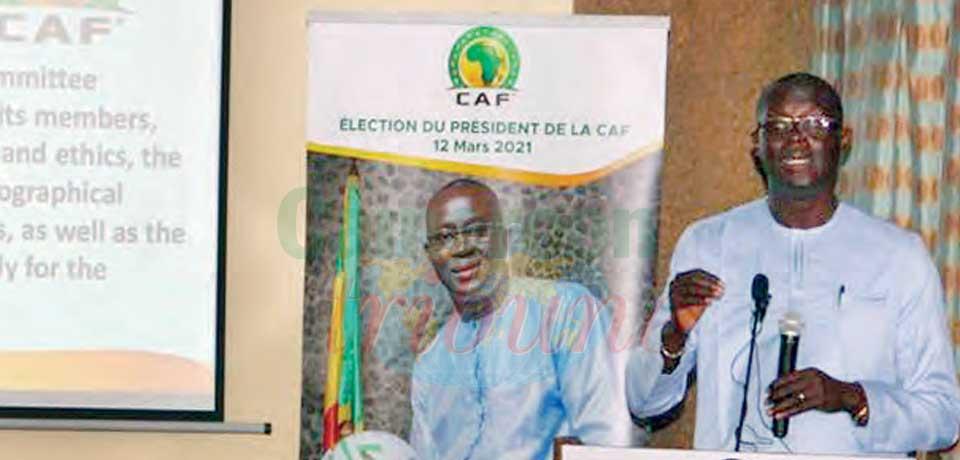 Election à la CAF : Augustin Senghor en opération de charme