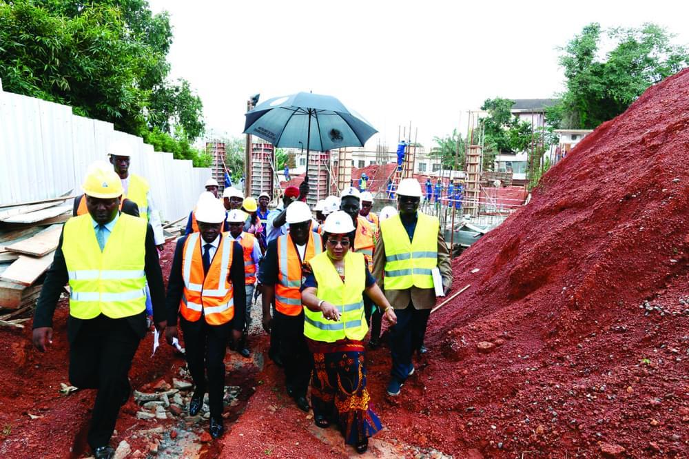 Siège de l'Afrosai : le Consupe sur le chantier