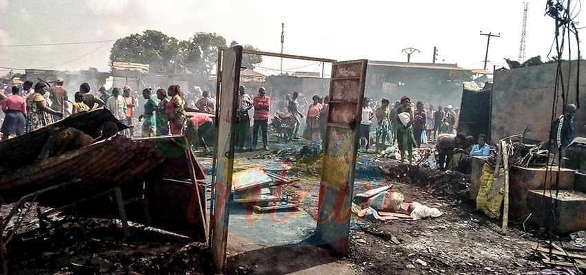Marché d'Ekounou : plus de 200 boutiques réduites en cendre