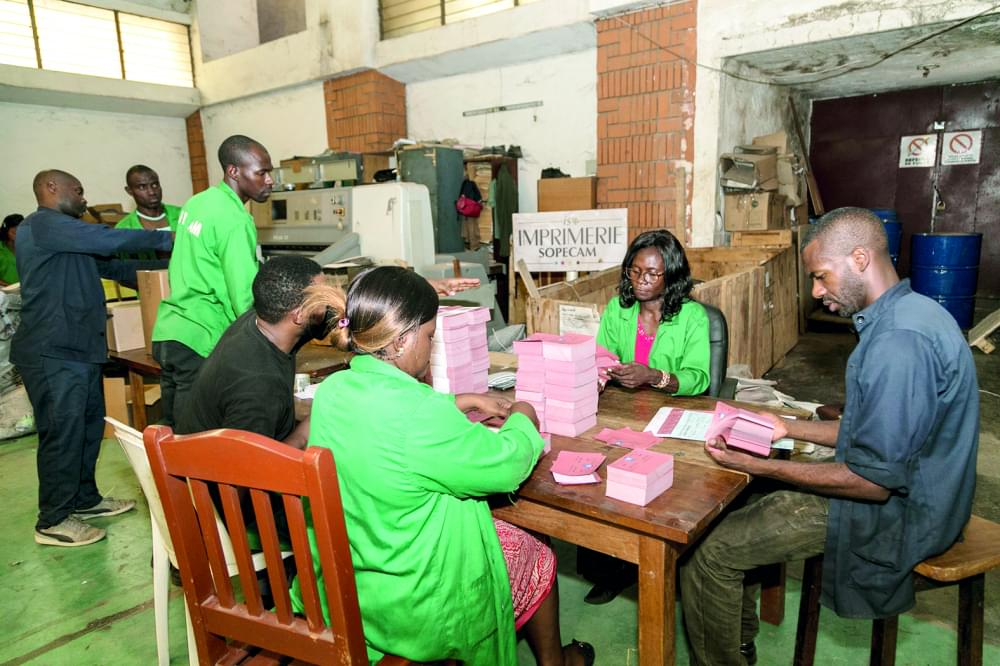 Legislative By-election : Production of Ballot Papers Progresses