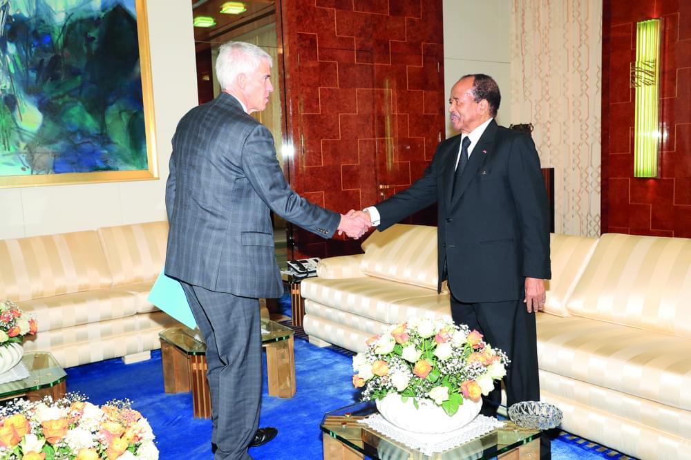 L'ambassadeur des Etats-Unis d'Amérique accueilli hier au Palais de l'Unité par le président de la République.