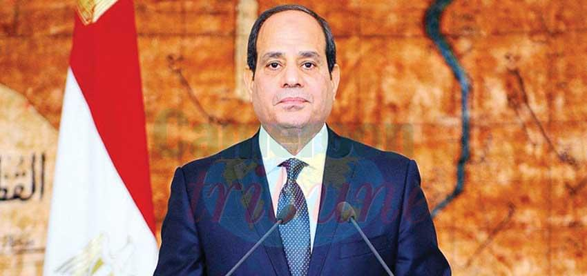 The Egyptian President Abdel Fatah el Sisi, Current Chair of the African Union