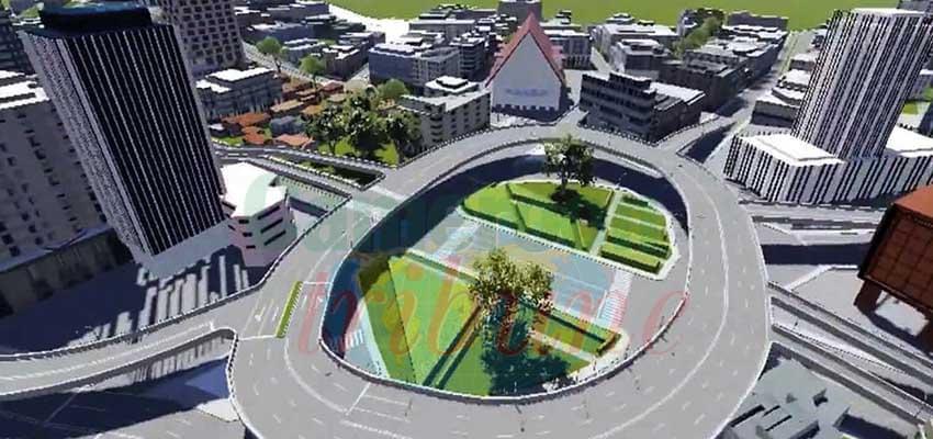 Maquette d'une partie de la section urbaine.