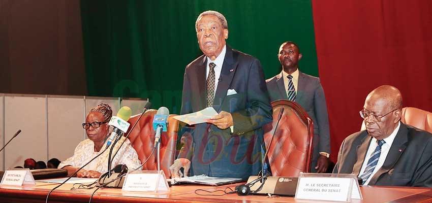 Le Sénat appelle à la protection de l'image du Cameroun et au respect des institutions.