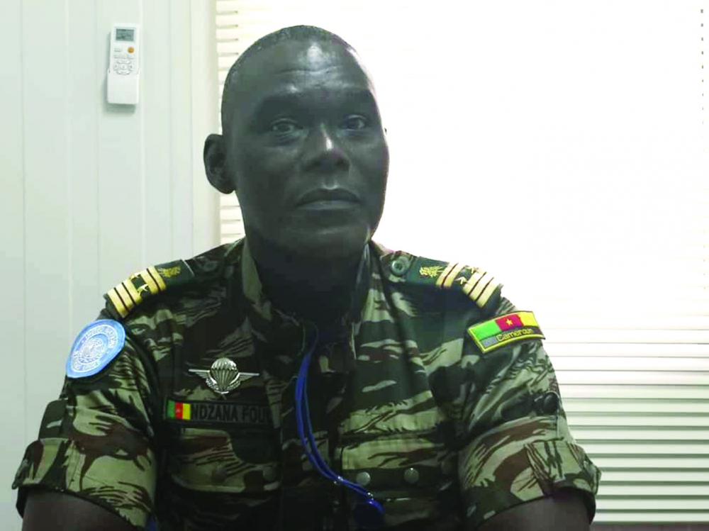 Colonel Arsène Ndzana Fouda, adjoint au chef des observateurs militaires, représentant pays (Cameroun) au sein de la Minusca.