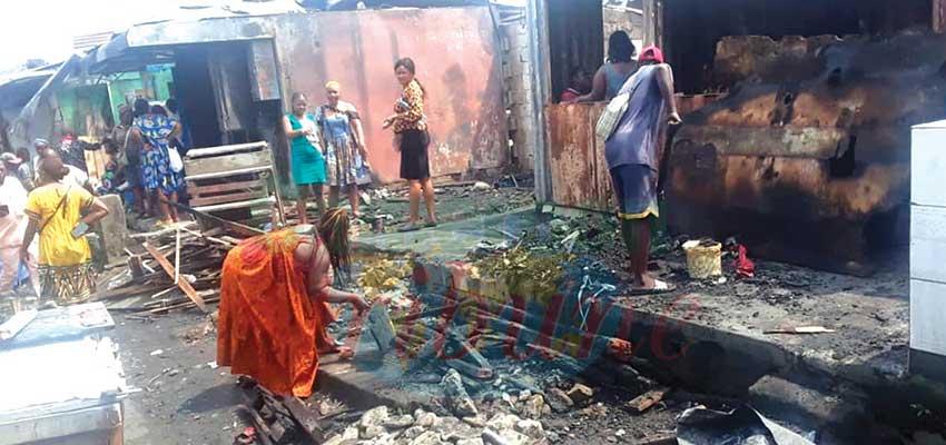 Marché Bonamoussadi  : une quinzaine de boutiques brûlées