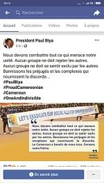 Unité nationale: Paul Biya contre l'exclusion