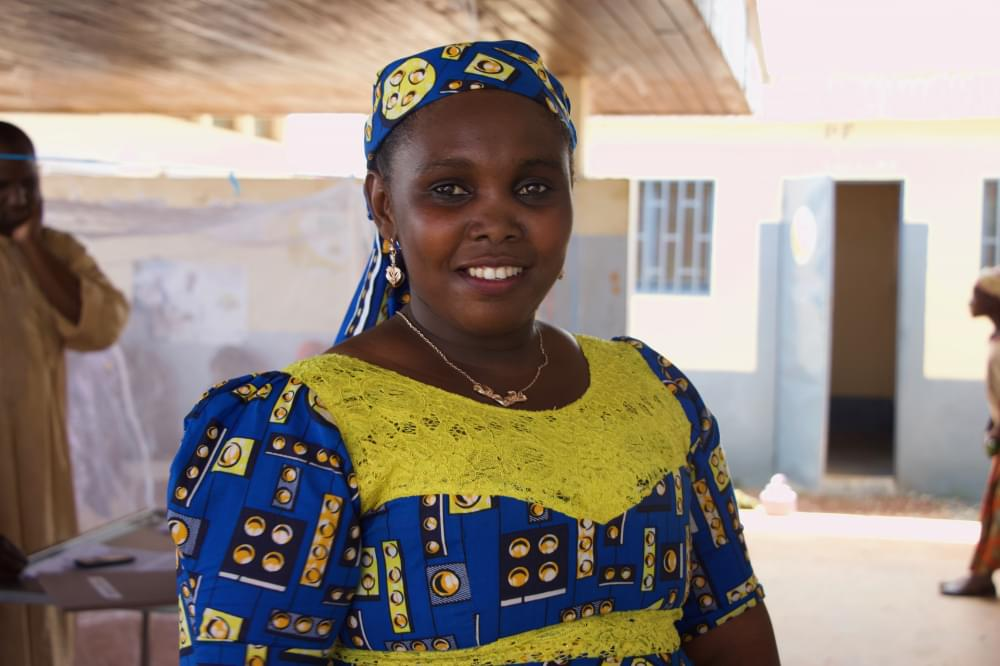 """Fadimatou Falmata: """"I love my work because it enables me to regularly meet and assist people."""""""