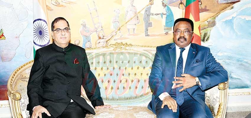 Cameroon-India Relations : High Commissioner Presents Copies Of Credentials