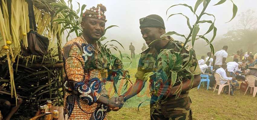 Chief Ewume welcoming the BIR commander