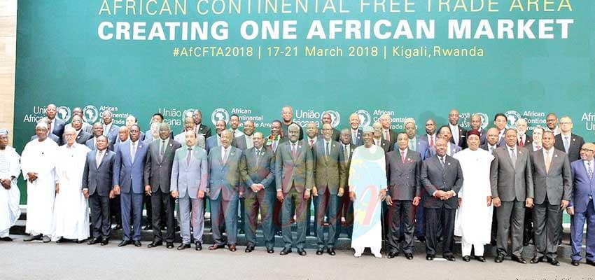 Des dirigeants africains lors du lancement de la ZLECAF.