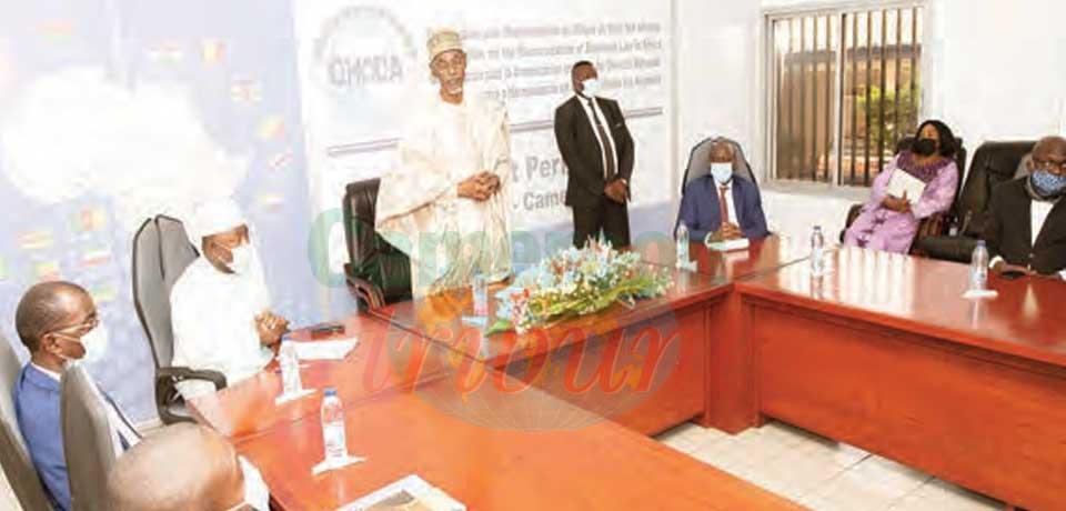 Organisation pour l'harmonisation en Afrique du droit des affaires : le Président du conseil des ministres au Cameroun
