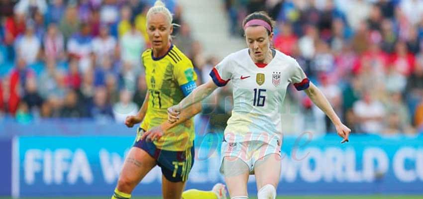 The United States women's team waxing strong.
