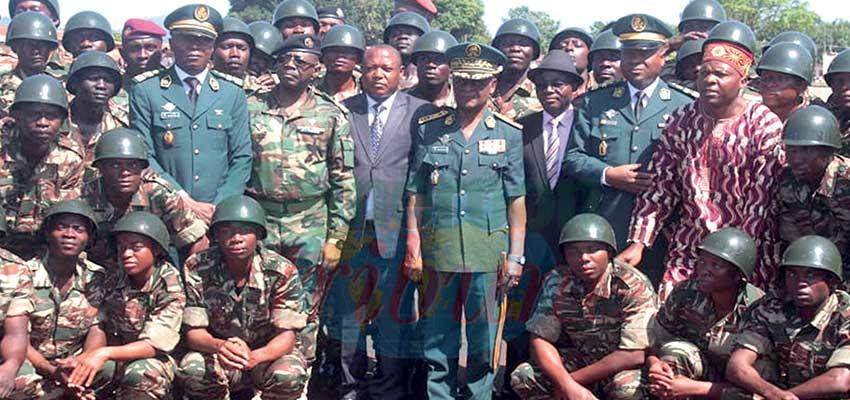 Cadres du Minjec:Fin de formation militaire à Koutaba