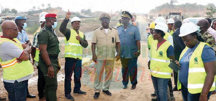 Pénétrante Est : le gouverneur du Littoral sur le chantier