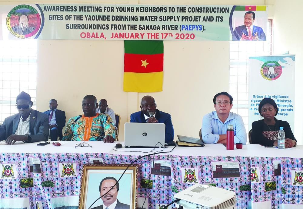 Dieudonné Ombala, directeur du projet d'alimentation en eau potable de la ville de Yaoundé et ses environs à partir de la Sanaga en a assuré les jeunes vendredis derniers à Obala.