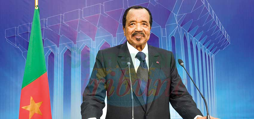 Below is the Head of State, President Paul Biya's  2021 New Year message to the nation on December 31, 2020.