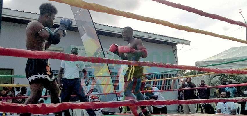 Pendant un des combats disputés samedi dernier à Douala.