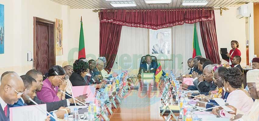 The October 2019 cabinet meeting that came on the heels of the Bafoussam landslide disaster.
