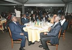 The reception at the General Secretariat of the CPDM Central Committee.