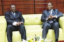 Douala: le président centrafricain en transit
